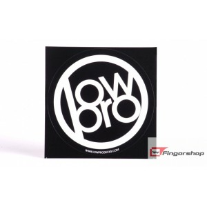 Naklejka Low Pro black 10x10cm